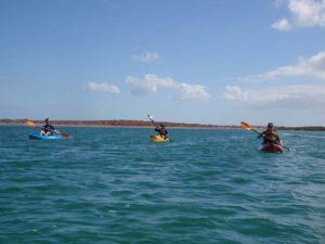 Graham, Jon and Dymph on the kayaks
