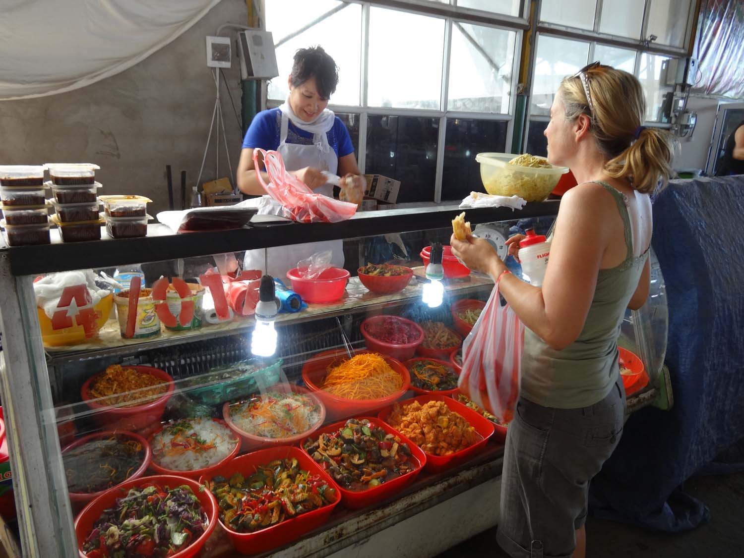 yummy salads in the Shymkent bazaar