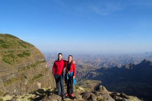 Jon and Jude in the Simien Mountains NP
