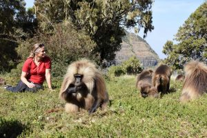 Jude and her new friends in the Simien Mountains
