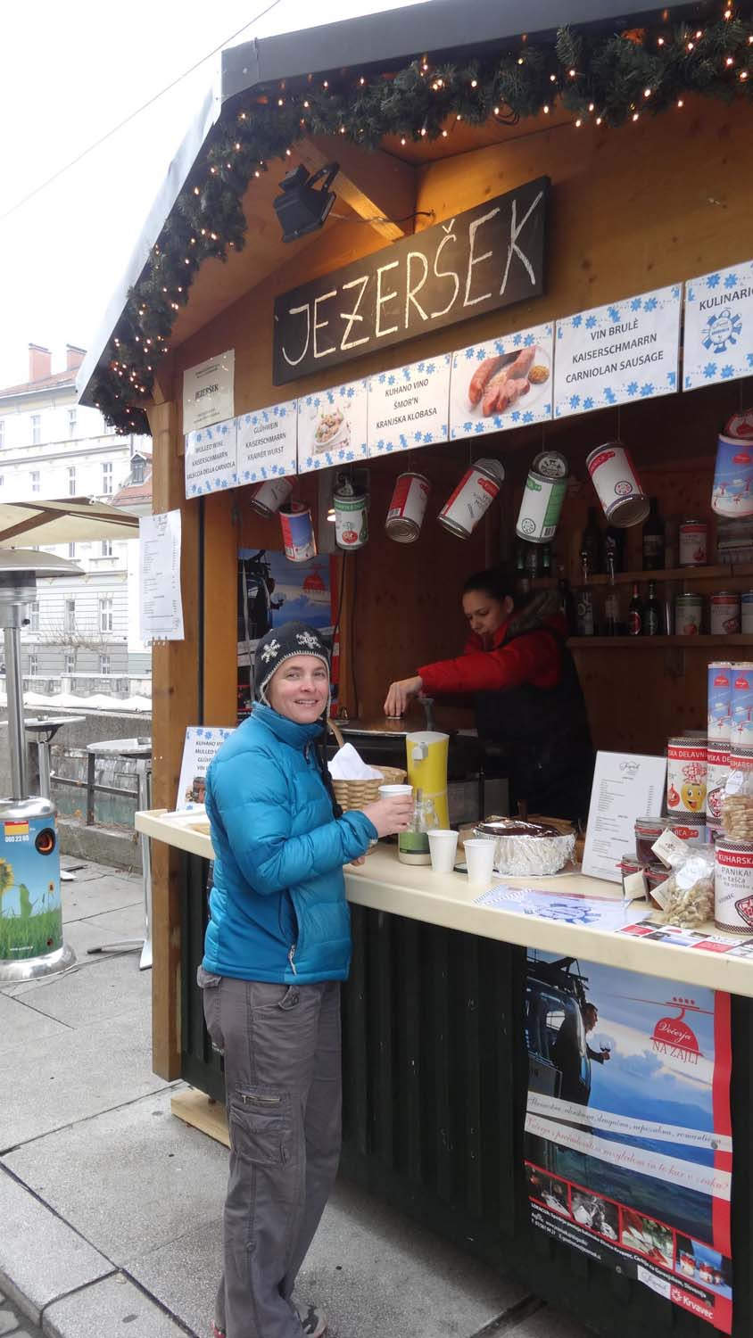 one of many gluhwein stalls in Ljubljana