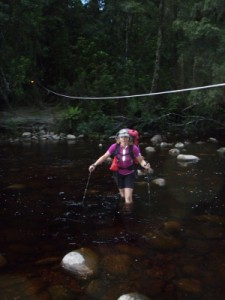 another creek crossing, the rope is to help when the creek is high