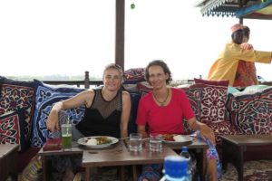 Jude and Regine at the Emerson on Hurumzi Tea House restaurant