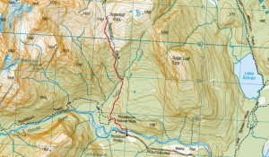 sugarloaf pass map - our route