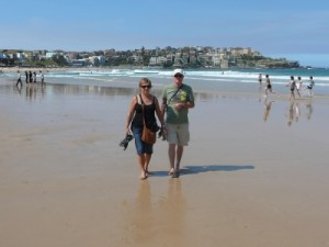 Nico and Riet on Bondi Beach