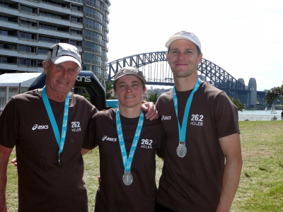 Jon and Jude's first marathon – Sydney 2009