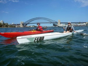 an amazing paddle in the Sydney harbour thanks to Simon and Katie