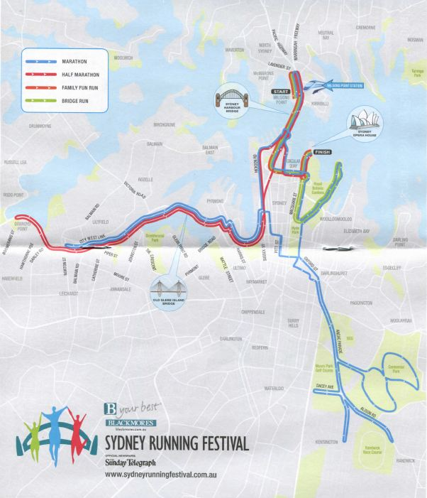 sydney marathon course overview