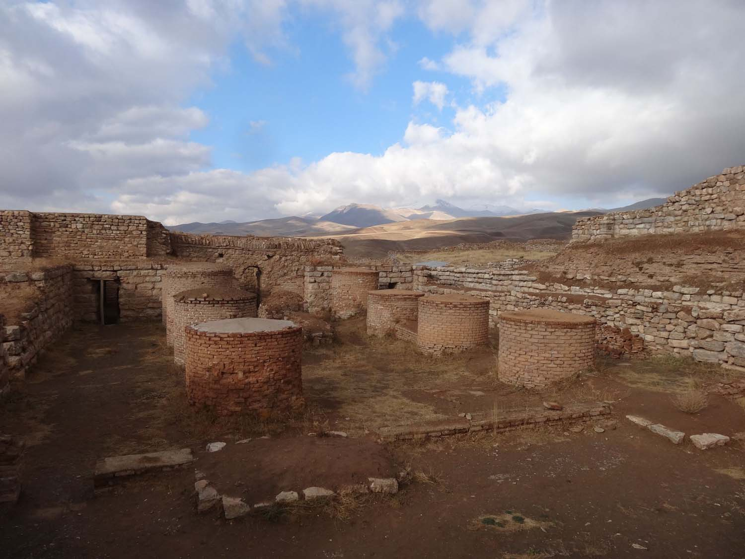 2000 year old ruins the fire temple in Takht-e-Soleyman