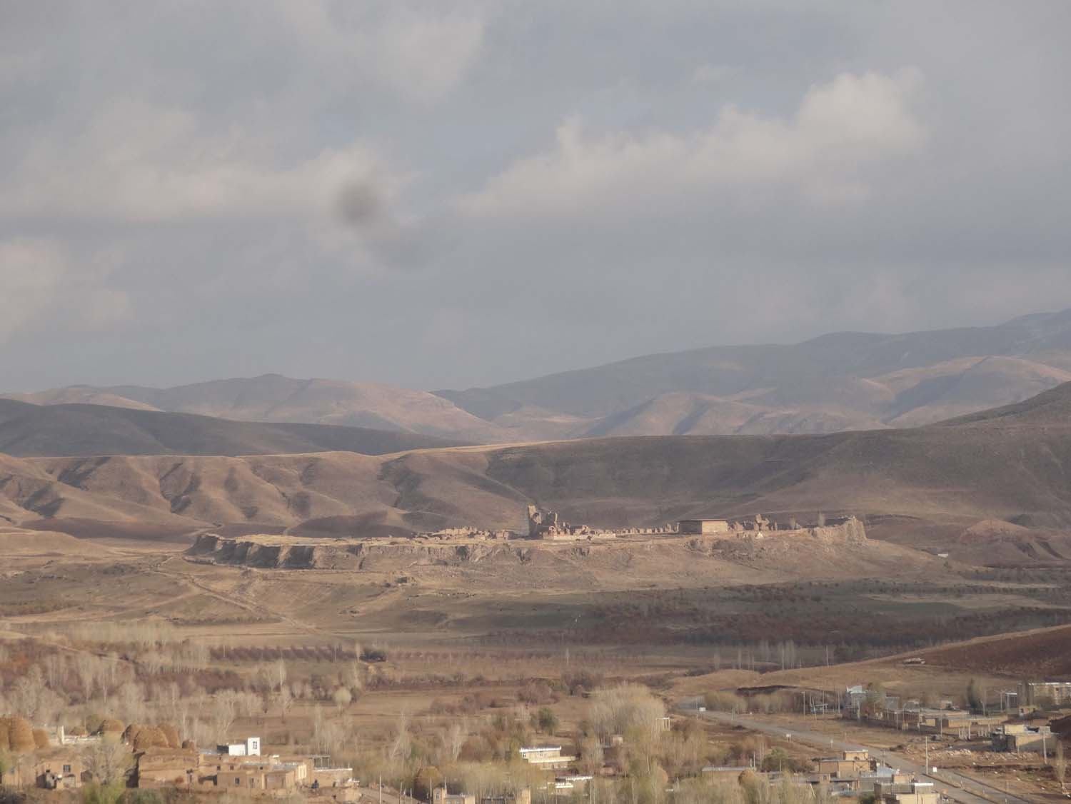 view of Takht-e-Soleyman from the prison volcano