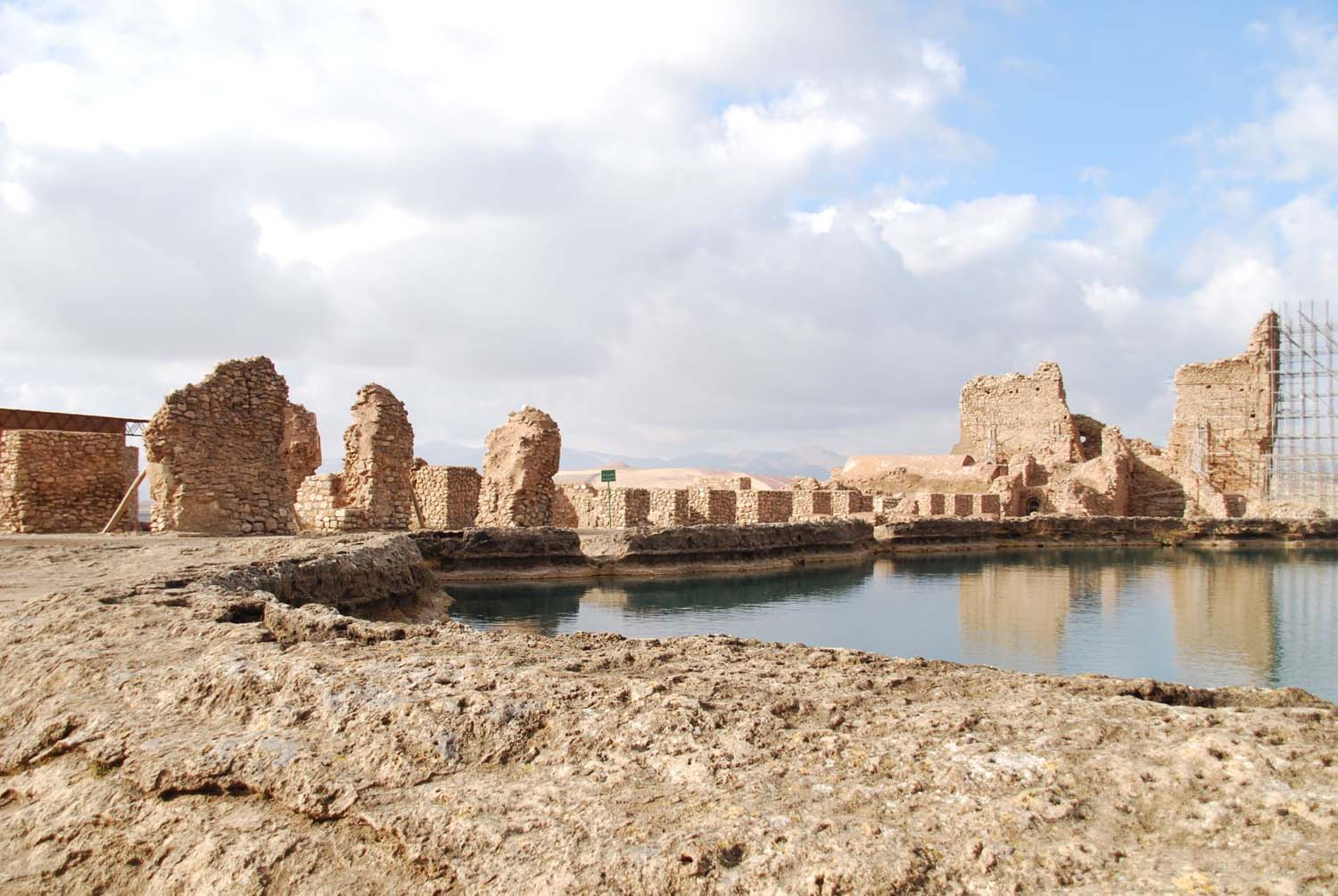 the volcanic lake in the middle of Takht-e-Soleyman temple