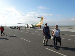 Nico and Riet at the Kilimanjaro International Airport