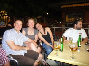 and Mark, Ella and Dimi (and Matt - not in the photo)
