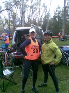 Callie and Ted prior to the race