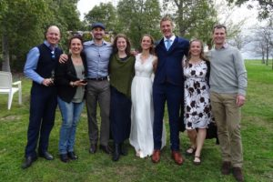 Wayno, Kate, Todd, Jenn, Martina, Tim, Jude and Jon at Riverdale for the beautiful wedding of Tim and Martina
