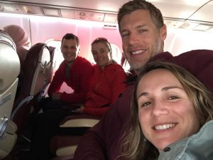 the team flying to Djerba Island
