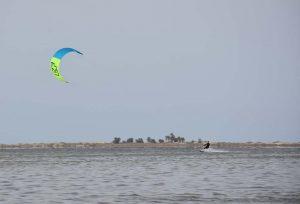 Tim enjoying some kite surfing