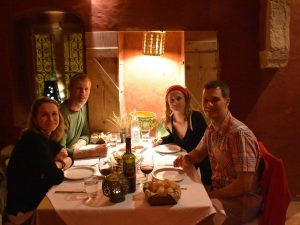 we share another yummy dinner in the restaurant of the hotel we are staying