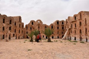 Jon and Jude in Ksar Ouled Soltane, made famous by the filming of Star Wars