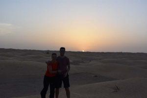 Jon and Jude in the Tunisian desert