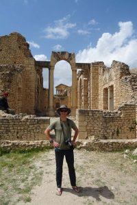 Jon in the ruins of Dougga