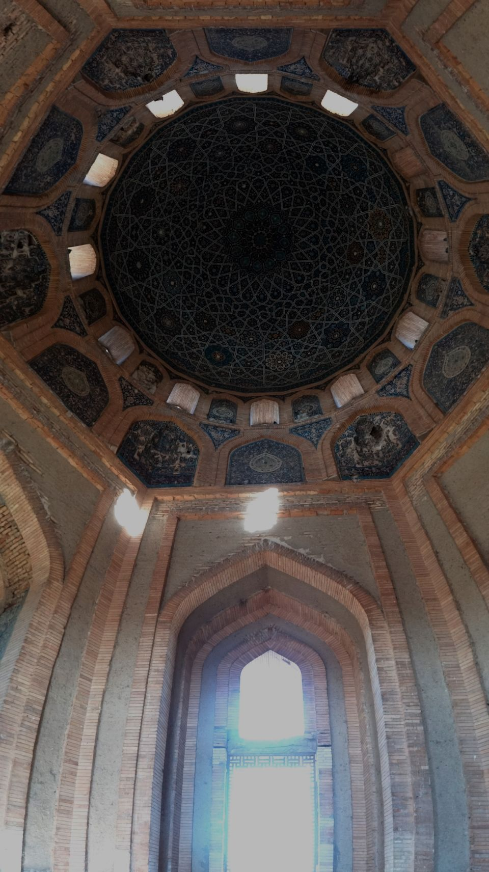 the impressive Turabeg Kahnym mausoleum, it's ceiling like a calendar