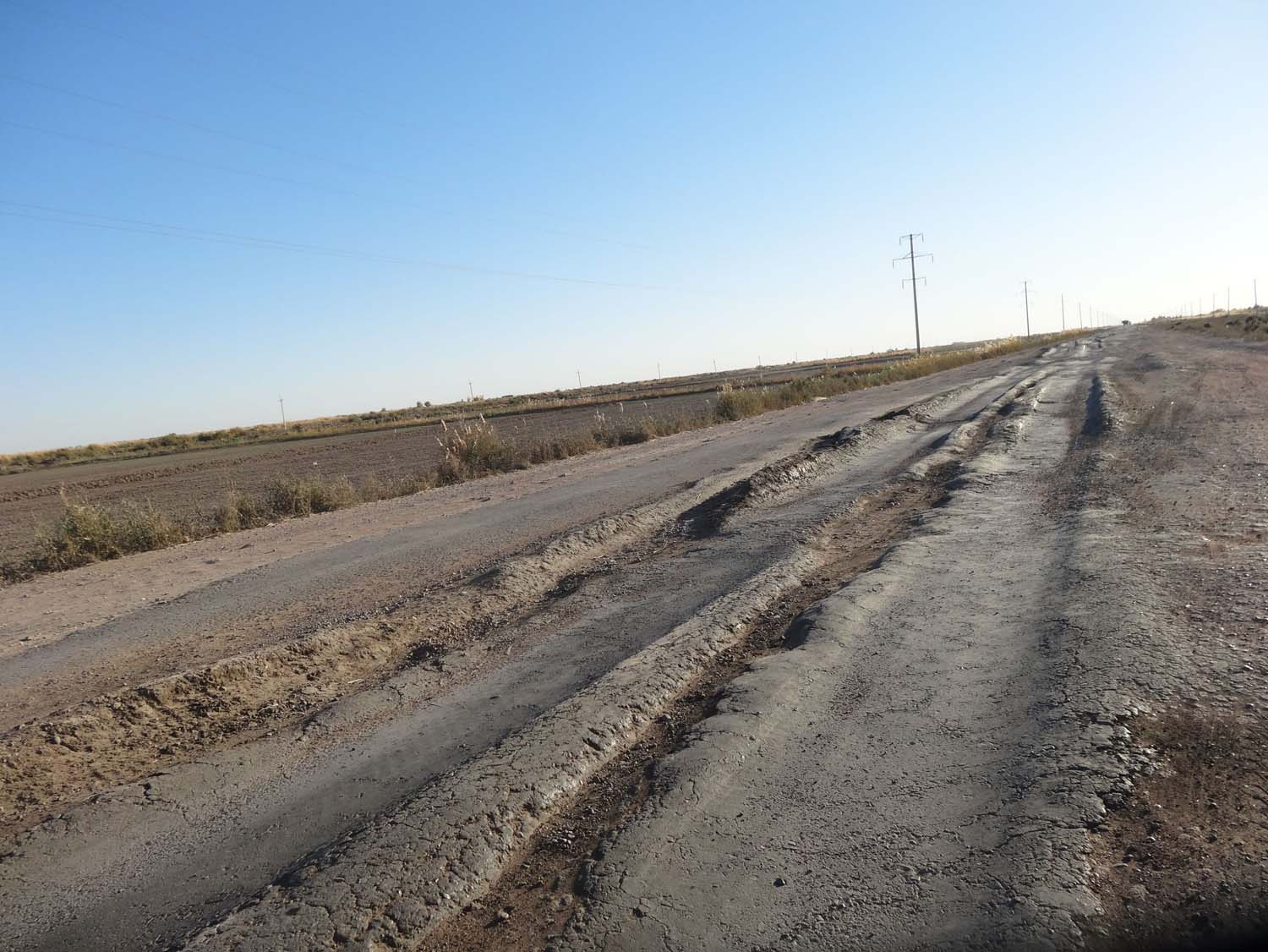 a great road in Turkmenistan