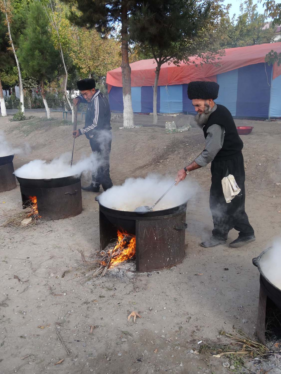 cooking for hundreds of people