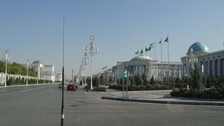 Ashgabat, white marble everywhere