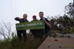 we reach Mwanihana Peak on day 2 just before lunch time