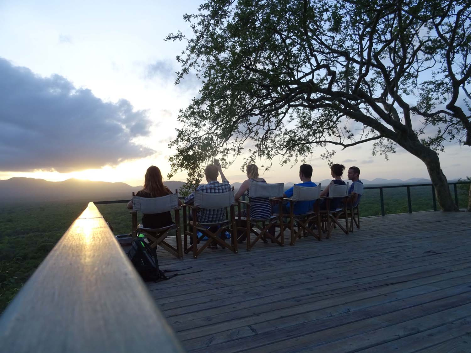 sundowners overlooking the Kibwezi Forest