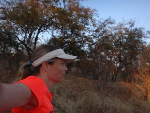 Jude running in the Zambezi NP