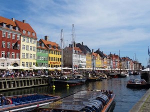 colourful Nyhavn waterfront from the 17th century