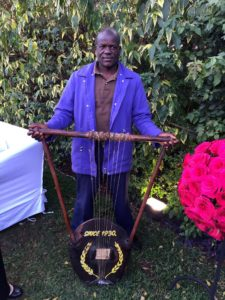 the nyatiti and its player, this particular instrument is 80 years old
