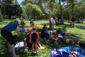 picnic in Matilda Bay