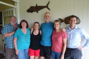 catching up with Rob, Robyn, Guy and Cheryl in Sandgate