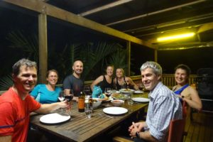 Jon, Sally, Todd, Jenn, Jude, Angie and Jonno on the deck for great food and great catch up