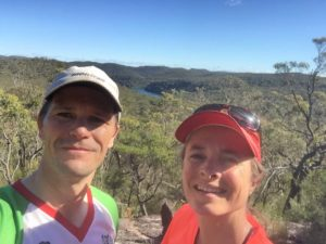 Jon and Jude on a morning run in Ku-Ring-Gai Chase NP