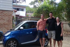 catching up with Jez in Sydney, the shortest guy with the biggest car... (no more combi!)