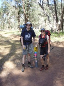 Jonno and Jude at the start of the hike