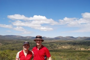 Jon and Jude overlooking Wilpena Pound