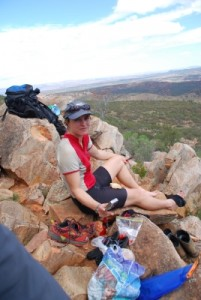 picnic lunch on the rim of Wilpena Pound