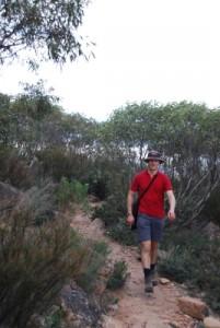 Jon on the way to Mary's Peak