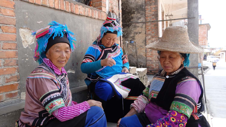 ladies in beautiful traditional dress