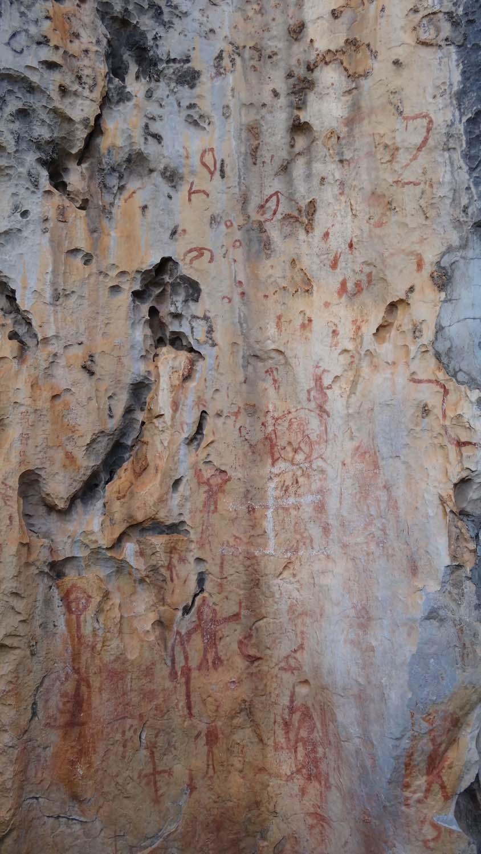 ancient rock art on the karst rock