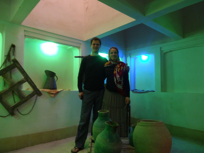 standing underneath a badgir