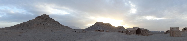 Yazd - the 2 zoroastrianism towers of silence near Yazd